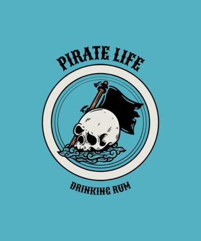 T-Shirt Design Creator with a Skull and a Pirate Flag 2826a-el1