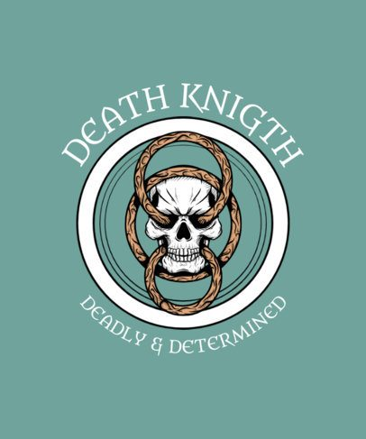 T-Shirt Design Creator Featuring a Knight's Skull 2826e-el1
