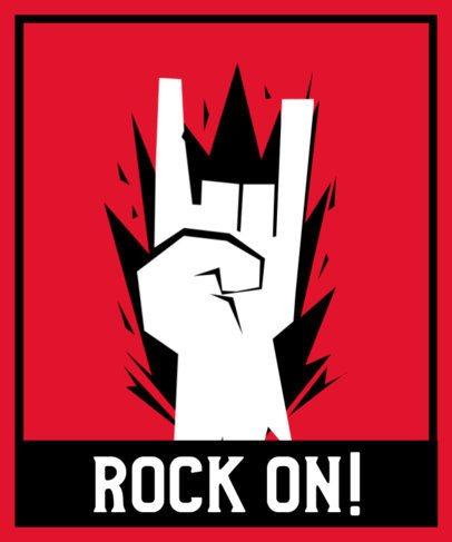 T-Shirt Design Maker with a Street Art Style for a Rocker 2e