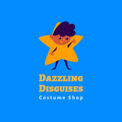 Kids' Clothing Logo Creator with a Clipart of a Kid in a Star Costume 3660k