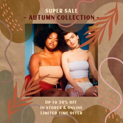 Instagram Post Creator for a Fall Season Super Sale 2946a