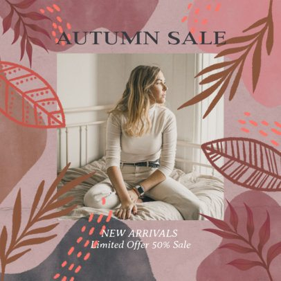 Autumn-Inspired Instagram Post Maker for a Flash Sale 2946d