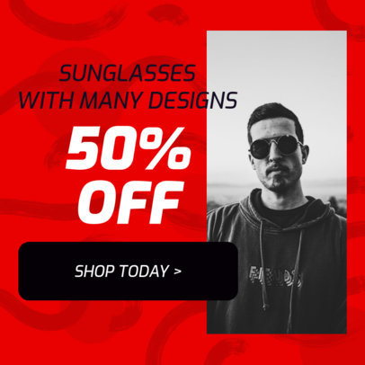 Ad Banner Creator for a Discount on Dropshipping Glasses 2936b