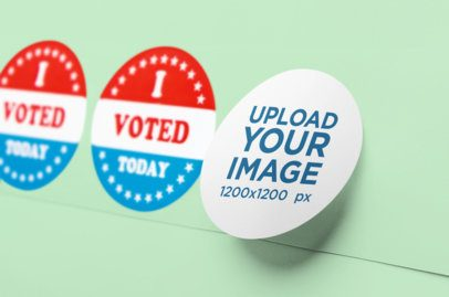 Mockup of Three Political Campaign Stickers 42259-r-el2