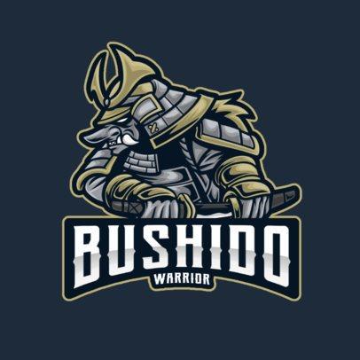 Gaming Logo Template Featuring an Oni Demon in Samurai Armor 2930g-el1