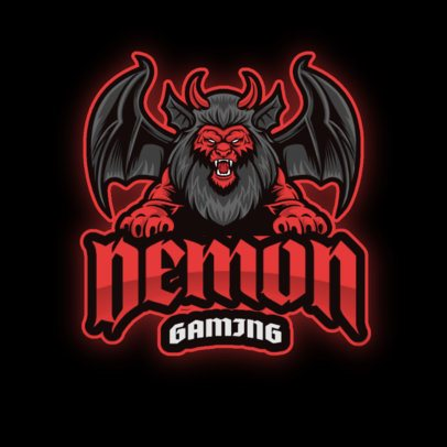 Gaming Logo Template with a Fictional Winged Animal 2945c-el1