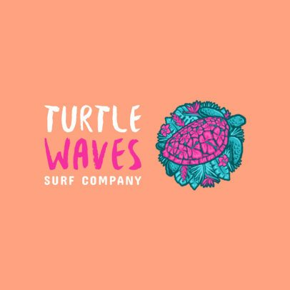Free Beachwear Logo Maker Featuring a Turtle Graphic 3695f