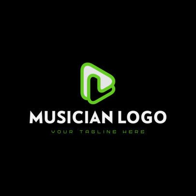 Free Logo Template for a Music Channel 3694a