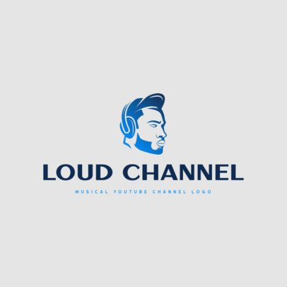 Free Music Channel Logo Maker Featuring a Gradient Graphic 3694l