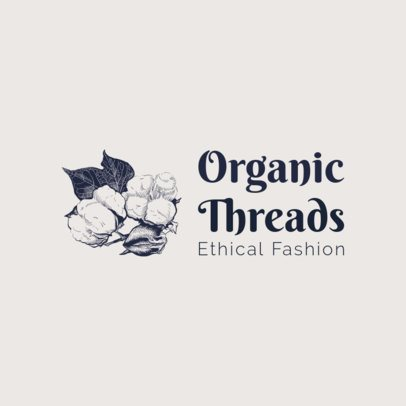 Free Ethical Fashion Brand Logo Maker With Cotton Graphics 3695x