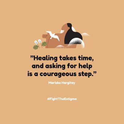 Instagram Post Creator for Mental Struggle Healing Tips 2961f