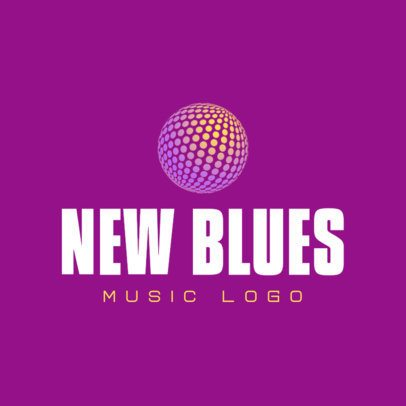 Free Logo Generator for Musicians Featuring a Disco Ball 3694s