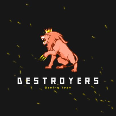 Free Logo Creator Featuring a Ferocious Lion with a Crown 3693g