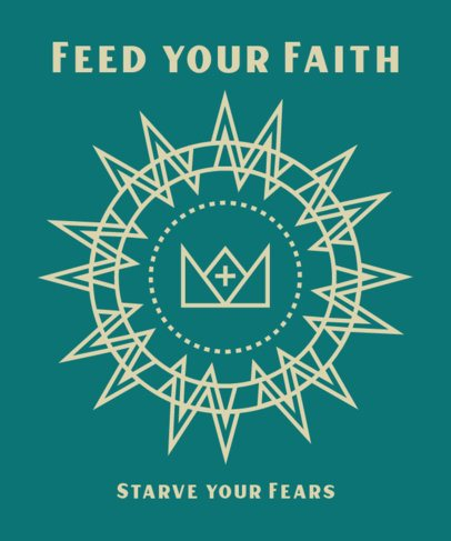 T-Shirt Design Generator with a Christian Faith-Related Quote 2963j
