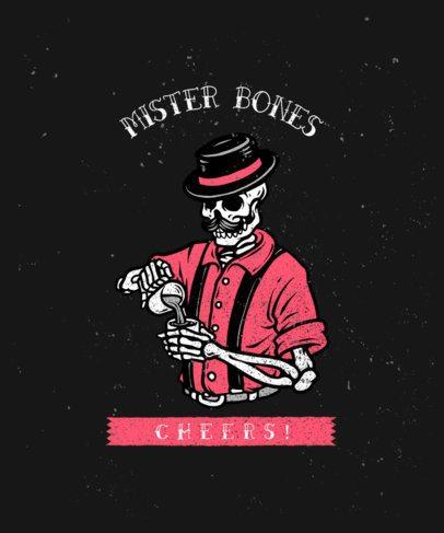 T-Shirt Design Maker with a Skeleton Barista Illustration 2934a-el1