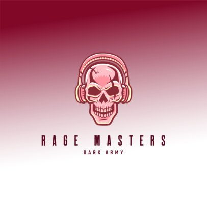 Free Logo Template Featuring an Evil Gamer Skull 3693r