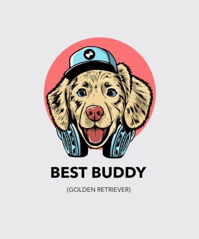 T-Shirt Design Maker Featuring Friendly Pet Illustrations 2938-el1