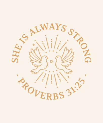 Christianity T-Shirt Design Maker with Faith Quotes 2964g