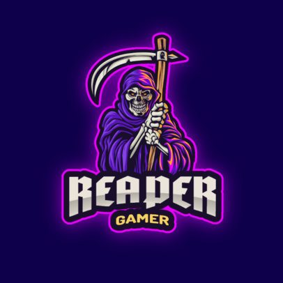 Gaming Logo Generator Featuring a Glowing Reaper Illustration 2939d-el1