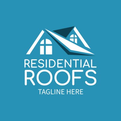 Free Logo Maker for a Roof Repairing Business with a Minimal Style 3696i