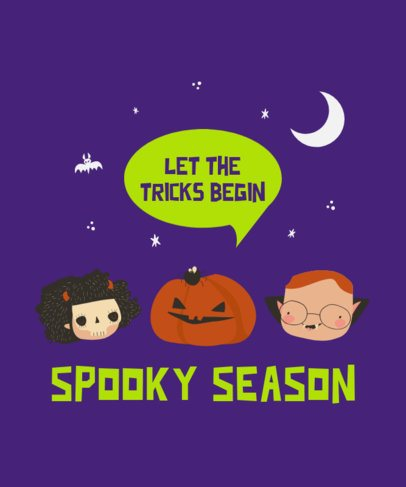 T-Shirt Design Maker for Kids with Halloween Characters 2925a-el1