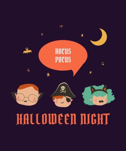 Kids T-Shirt Design Generator Featuring Characters in Halloween Costumes 2925e-el1