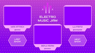 Twitch Overlay Generator for an EDM Live Stream Concert with a Multicam Design 2971e