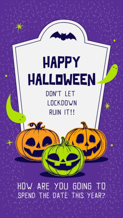 Instagram Story Creator with a Halloween During Lockdown Theme 2860b-el1