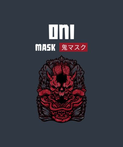 T-Shirt Design Generator Featuring an Oni Mask Graphic 2933g-el1