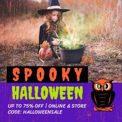 Spooky Instagram Post Maker for a Halloween Sale 2868a
