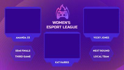 Multicam Twitch Overlay Creator with a Female eSports League Livestream 2971g