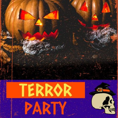 Instagram Post Creator for a Horror-Themed Halloween Party 2968e