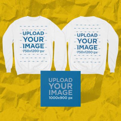Merch Bundle Mockup of a Both Sides-View Sweatshirt and a Digipak 43424-r-el2