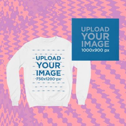 Merch Bundle Mockup Featuring a Crew Neck Sweatshirt and a Digipak 43418-r-el2