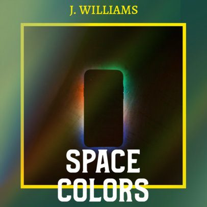 Cover Design Maker for an Indie Singer Featuring a Rainbow Overlay 2985c