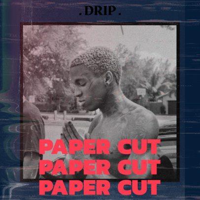 Album Cover Design Maker for a Rapper Featuring a Grunge Effect 2985b