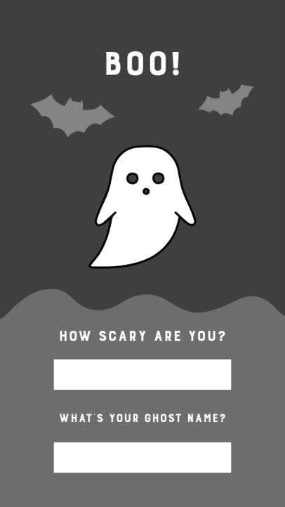 Instagram Story Creator Featuring Questions for Halloween Featuring a Witch Graphic 2954c-el1