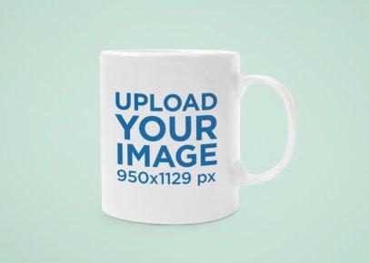 Minimalistic Mockup of an 11 oz Coffee Mug with a Customizable Background 43584-r-el2