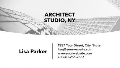 Architect Studio Business Card Template with Customizable Background a241e