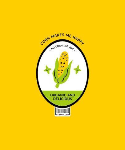 Illustrated T-Shirt Design Maker Featuring a Corn 2956b-el1