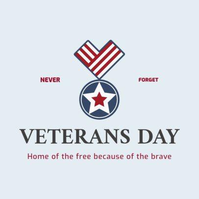 Instagram Post Template Remembering War Veterans' Holiday 2994d