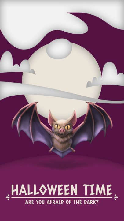Instagram Story Generator with an Illustration of a Vampire Bat 2952b-el1