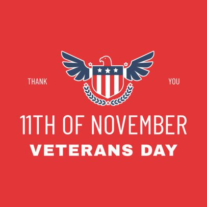Instagram Post Creator with the Date of the Veterans' Day 2994b