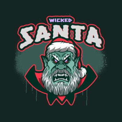 Gaming Logo Maker Featuring a Monstrous Santa Claus 3711p