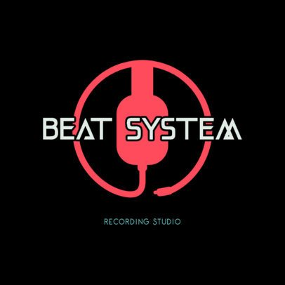 Logo Maker for a Recording Studio Featuring a Cable Graphic 3698b