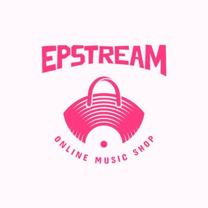 Online Music Shop Logo Template 3704h