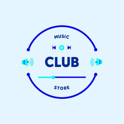 Music Store Logo Generator With a Simple Circular Layout 3697h