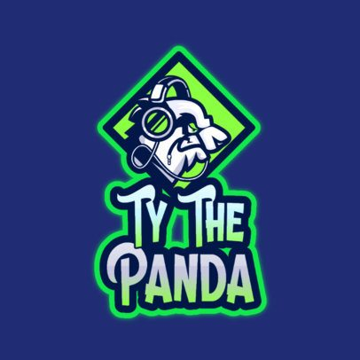 Free Illustrated Logo Maker for a Gaming Club Featuring an Aggressive Panda 3724e