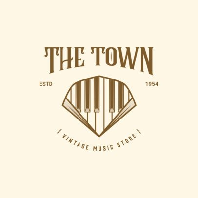 Logo Generator for a Vintage Music Store 3704j