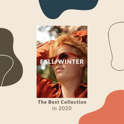 Instagram Post Template for a Fall-Winter Fashion Collection Announcement 3002-el1